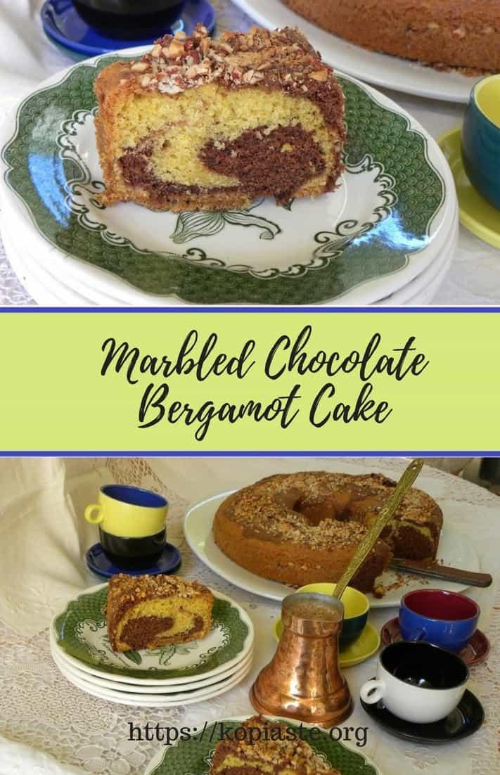 Marbled Chocolate Bergamot Cake image