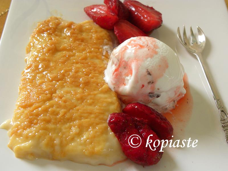 Caramelized Rice Pudding with ice cream 2