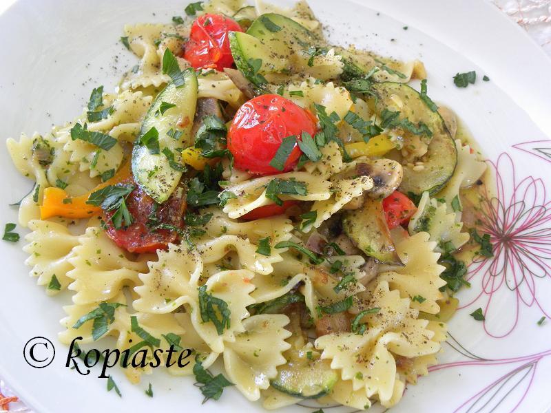 Pasta Hot Vegetable Salad