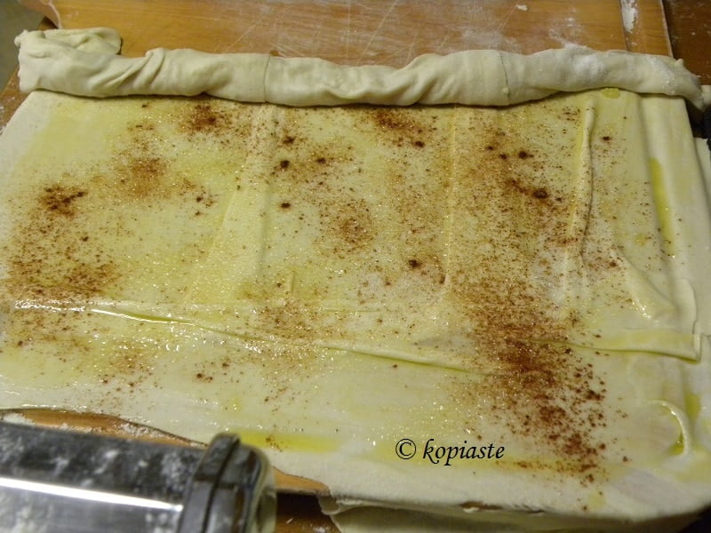 Phyllo using a pasta machine.