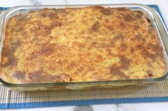 Artichoke Lasagna Pastitsio Baked image