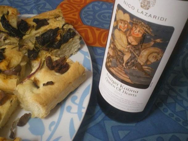 Lagana and wine image
