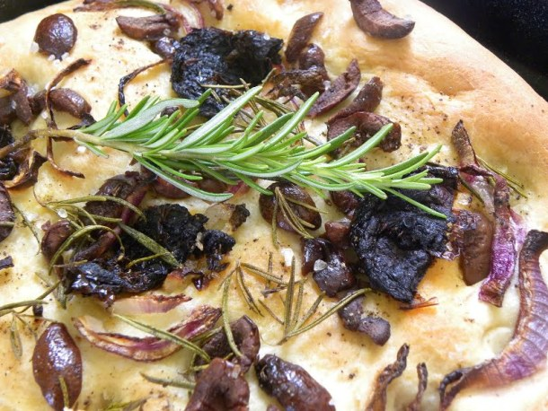 Lagana with olives and rosemary image