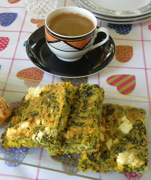 Plastos Spanakopita with Greek coffee image