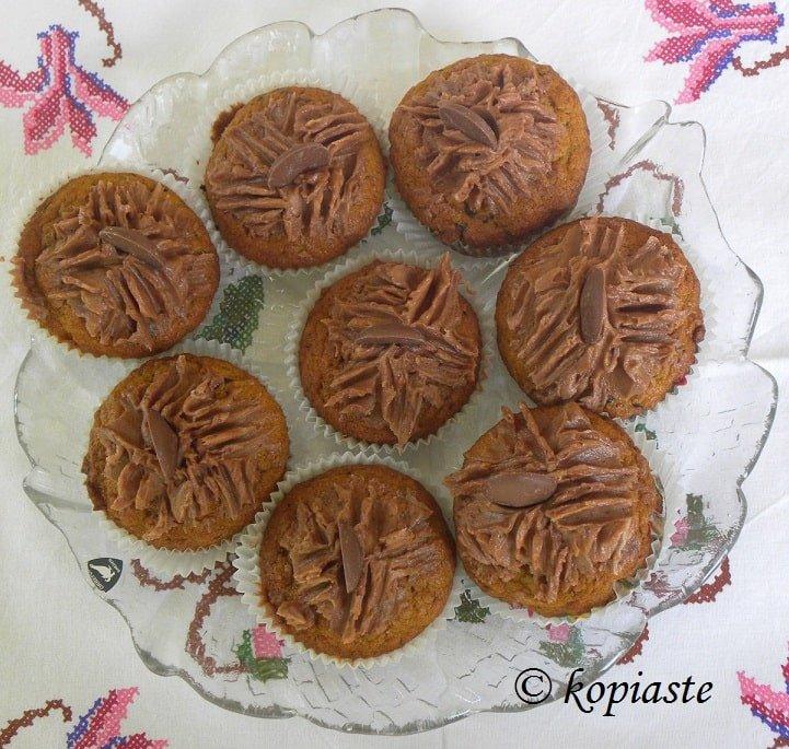 Butternut Squash, chocolate and carob muffins