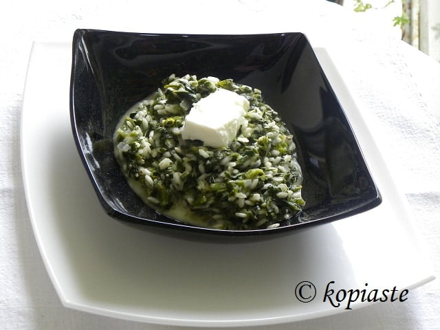 Spinach risotto image