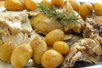 Chicken with Garlic and Rosemary