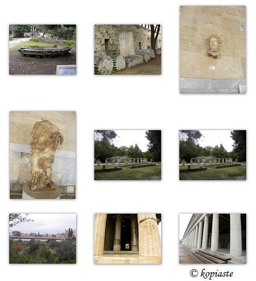 Collage Athens Ancient Agora