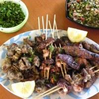 Tourkakia (grilled offal)