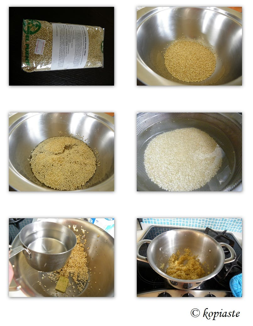 Collage How to cook Quinoa
