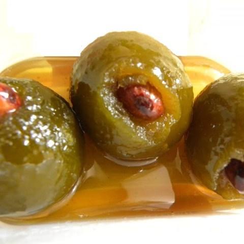 Glyko Nerantzi (Green Bitter Oranges preserve) with Ginger