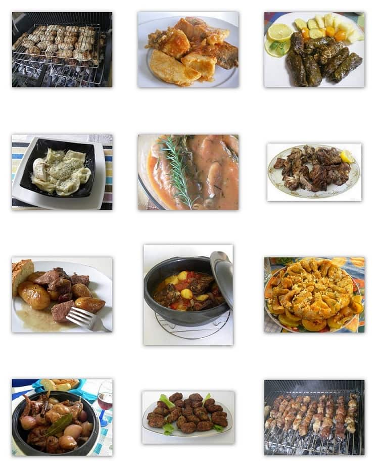 Collage main dishes