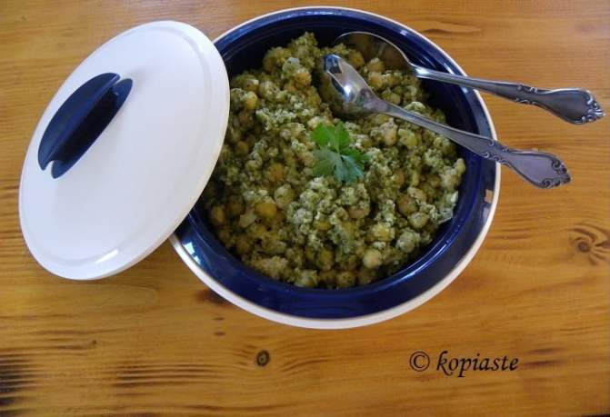 Chickpea salad with Bulgur