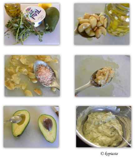 Collage Avocado Purslane Tzatziki