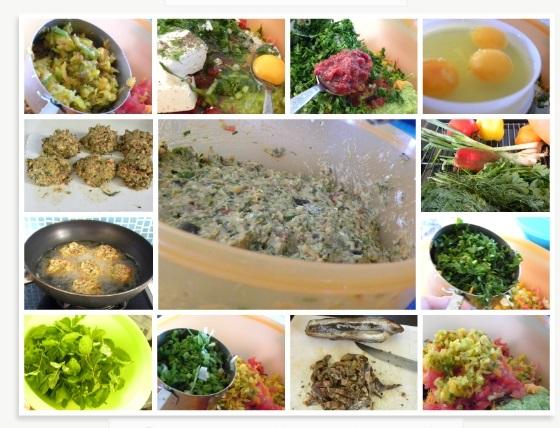 Collage veggie burgers