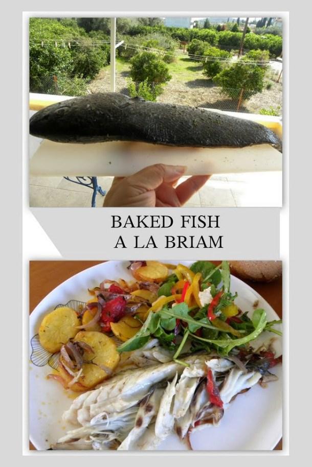 Baked fish a la Briam image