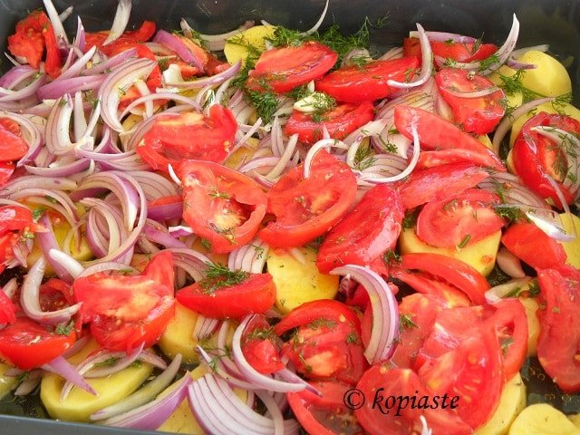 Preparing vegetables for Briam