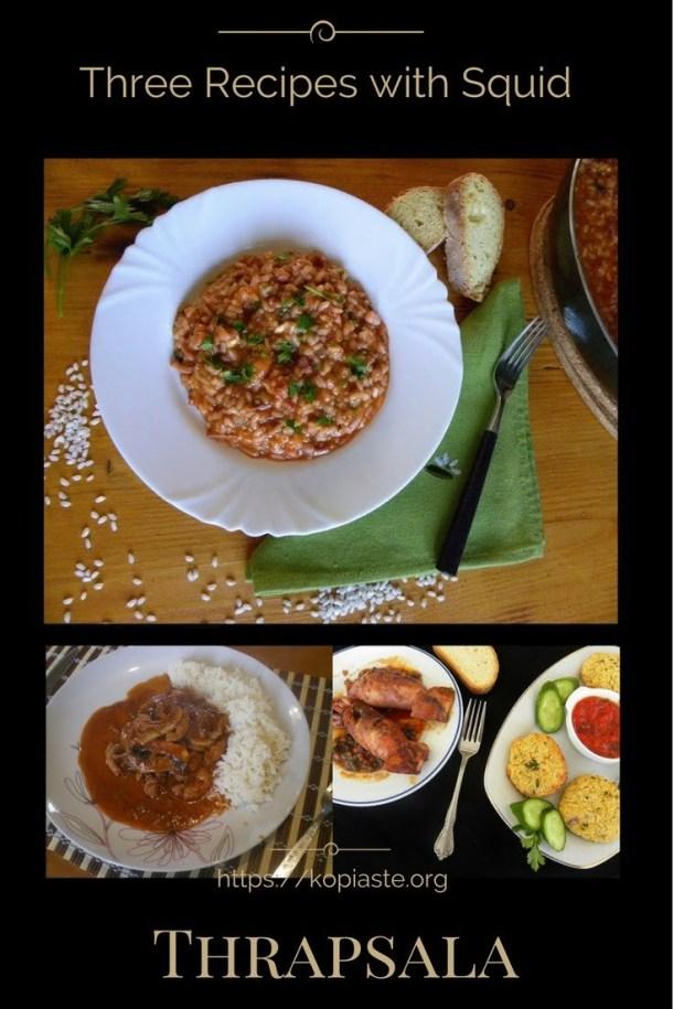 collage thrapsala shortfin squid image