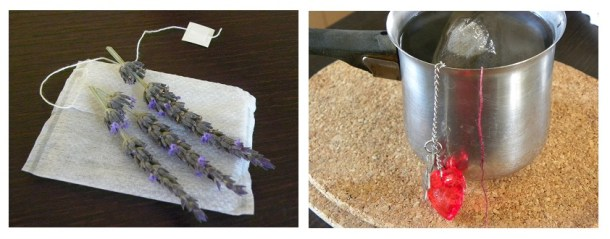 Collage lavender tea