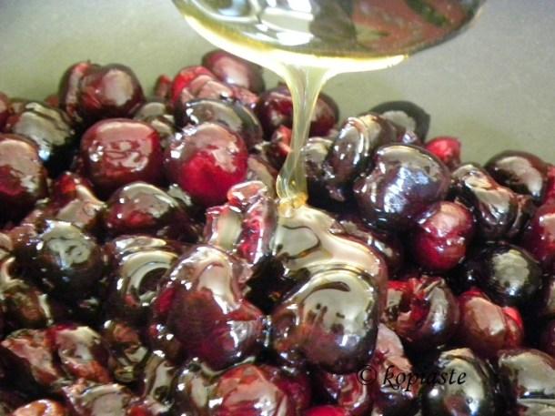 cherries with honey