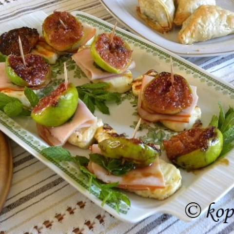 Grilled Halloumi and Fig Appetizer