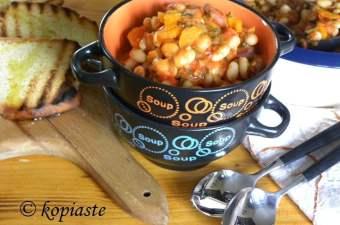 fassolada with sausage image