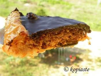 upside down baklavas tart