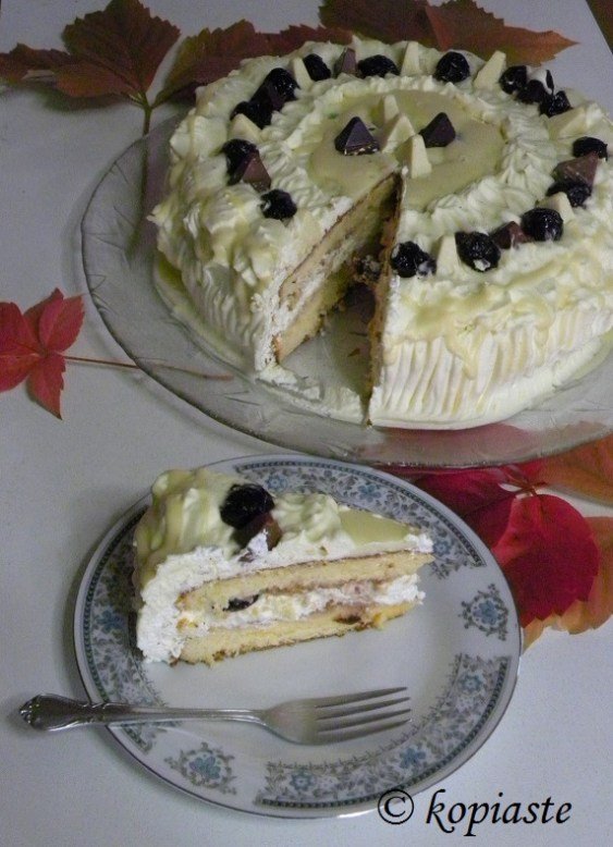 Piece of Toblerone cake