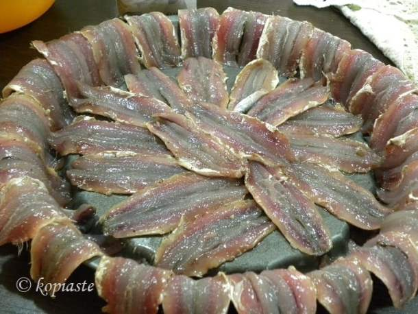 Anchovy fillets gavros
