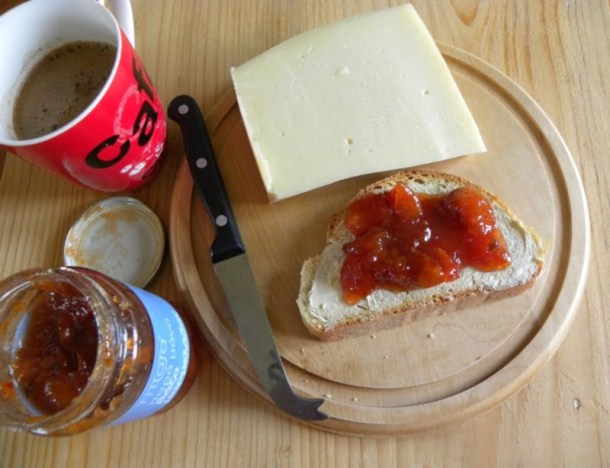 breakfast with loquat jam image