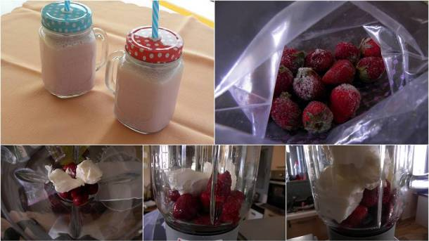 Collage Strawberry Smoothie