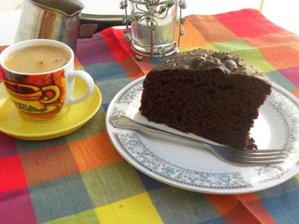 Chocolate Mayonnaise Cake with Cappuccino Glaze image