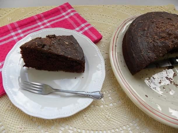 cappuccino glazed chocolate cake picture