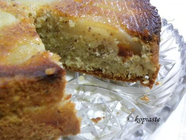 upside-down-pear-and-almond-honey-cake