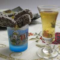 Mandarin Liqueur and Candied Mandarin Peels