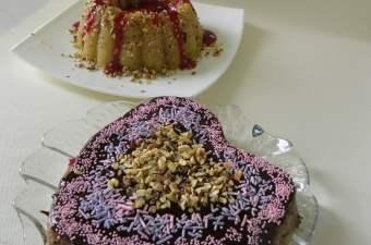 Halvas with strawberry and Chocolate
