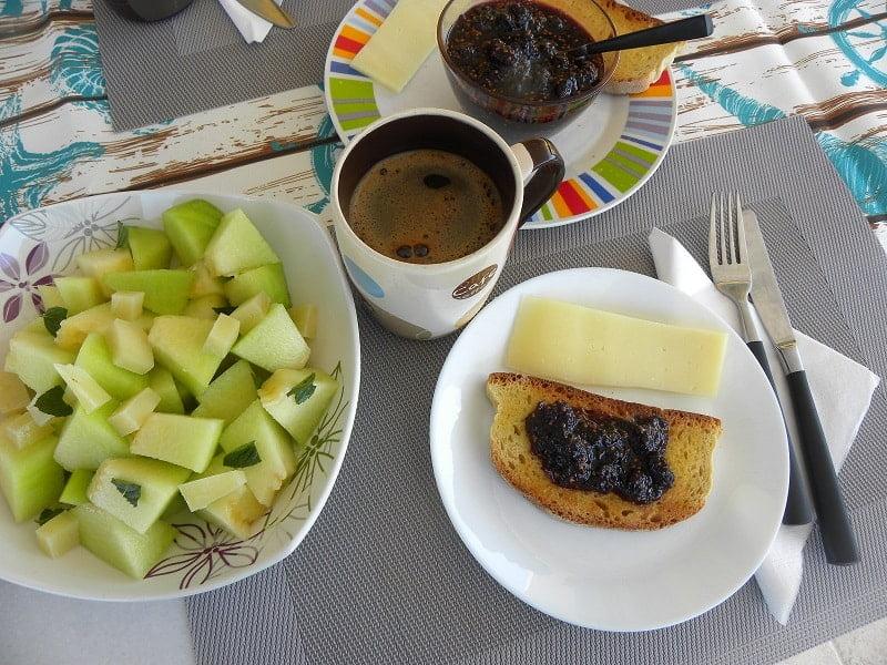 Greek breakfast with Mulberry Jam