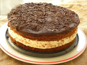 Bounty cake chocolate and coconut image