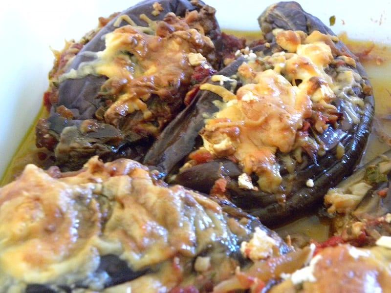 Imam Bayildi (A Stewed Eggplant dish of Politiki Kouzina)