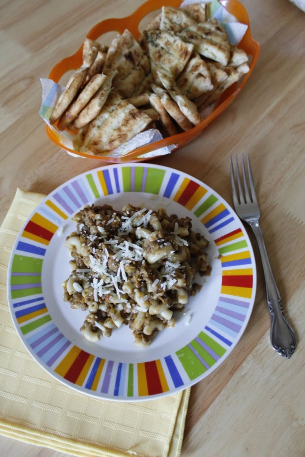 Lentils with smoked eggplant picture