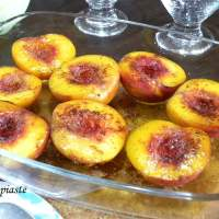 Easy Baked Peaches with Honey & Cinnamon
