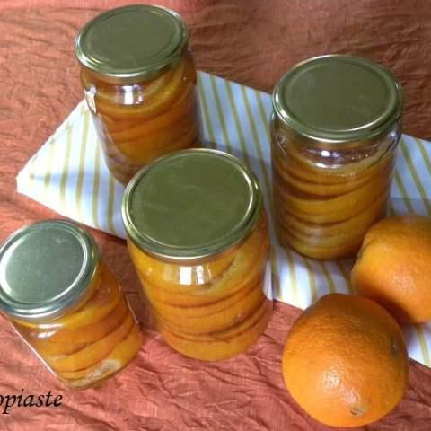 Glyko Portokali (Whole Orange Fruit Preserve in Slices) and Orange Cake