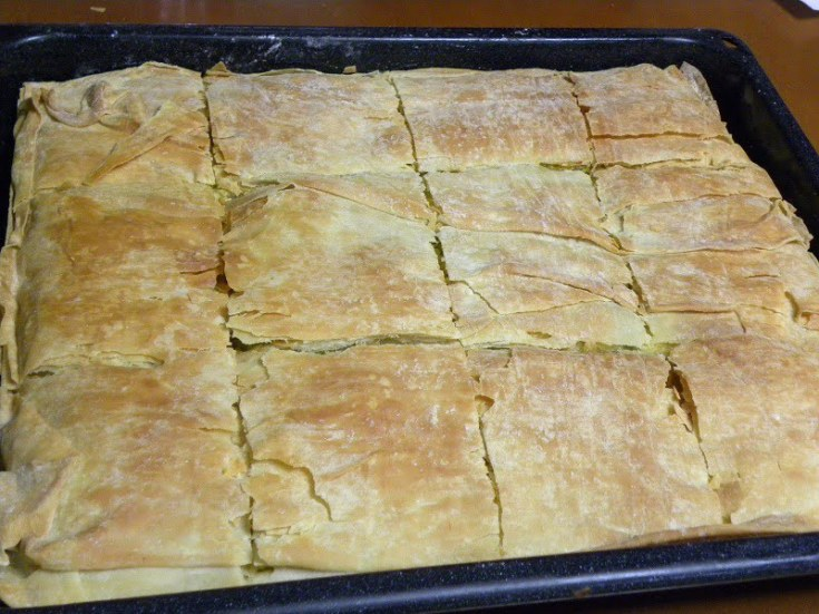 Kolokythopita me Spanaki (Butternut Squash Pie with Spinach)