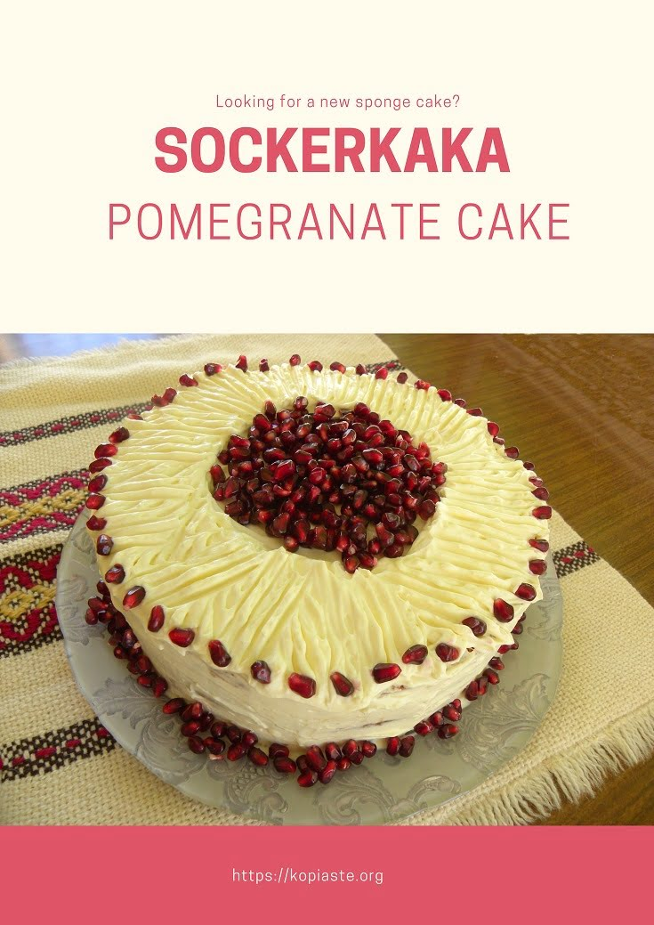 Sockerkaka Pomegranate cake image