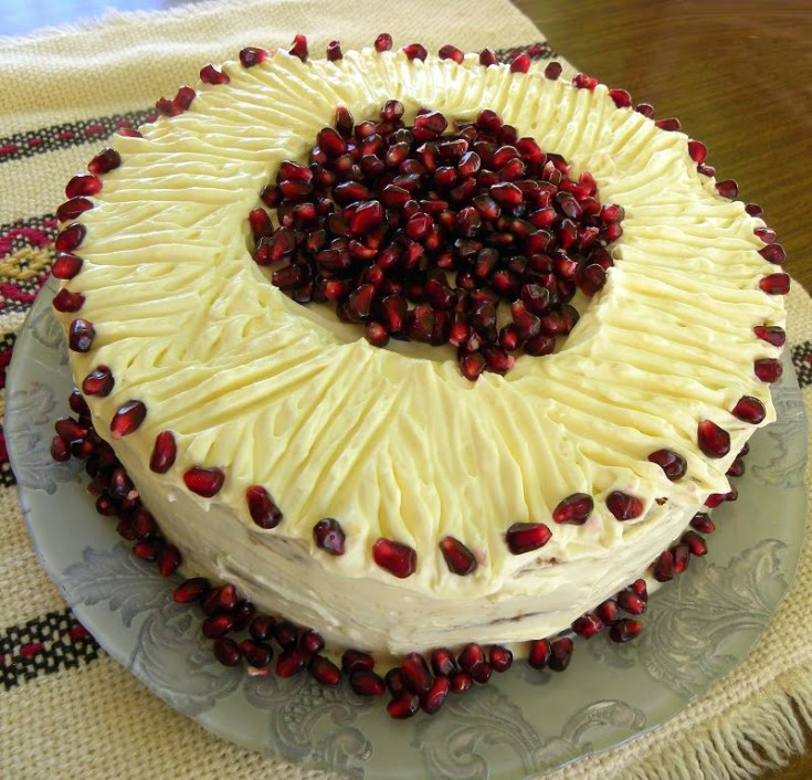 Sockerkaka Sponge and Pomegranate Cake