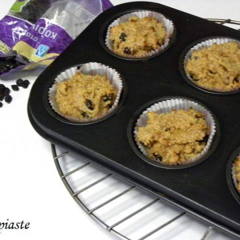 Easy, Sugarless, Gluten Free Peanut Butter, Cream Cheese, Coconut Muffins