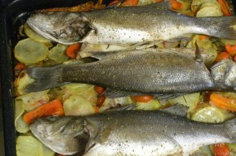 Lavraki plaki (sea bass) image