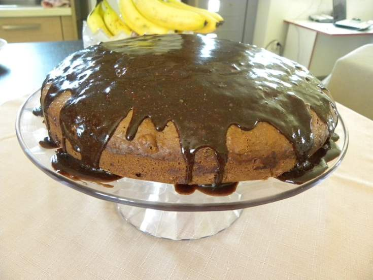 Vegan Chocolate Carrot Cake with Chocolate Tahini Glazing