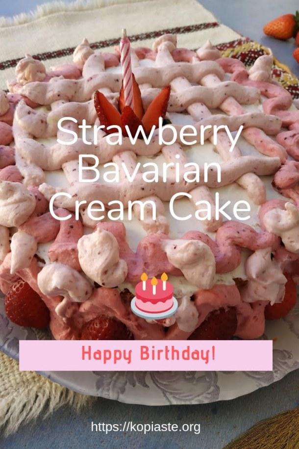 Collage Strawberry Bavarian Cream Cake image