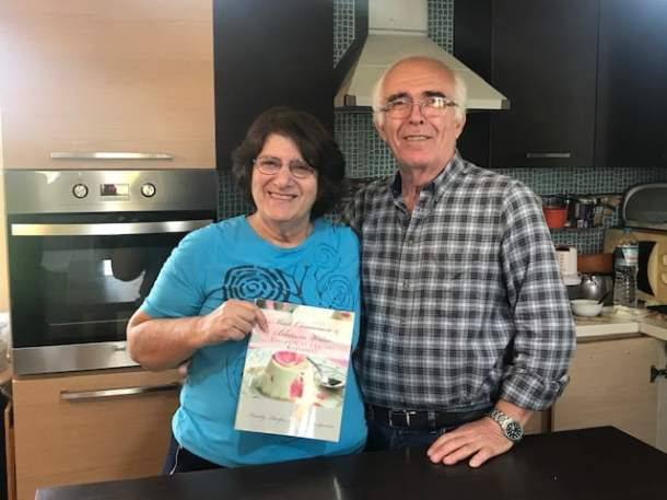 Ivy and Demetris with my cookbook image